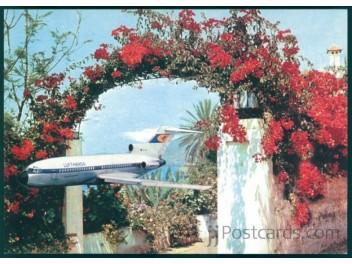Blumenreise, Lufthansa B.727