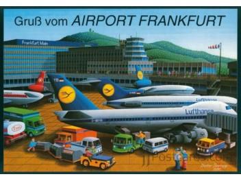 Frankfurt: Lufthansa 747, 727, DC-10