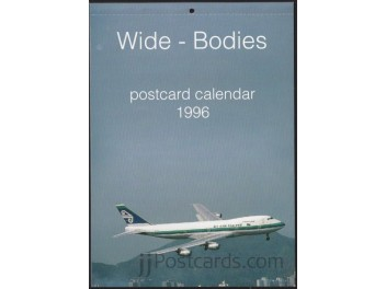 Calendar 'Wide-Bodies' 1996, 13 cards