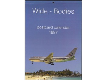 Calendar 'Wide-Bodies' 1997, 13 cards