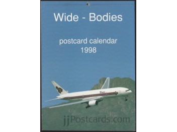 Calendar 'Wide-Bodies' 1998, 13 cards