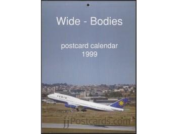 Calendar 'Wide-Bodies' 1999, 13 cards