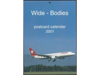Calendar 'Wide-Bodies' 2001, 13 cards