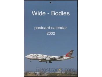 Calendar 'Wide-Bodies' 2002, 13 cards