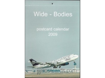 Calendar 'Wide-Bodies' 2009, 13 cards