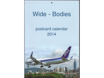 Calendar 'Wide-Bodies' 2014, 13 cards