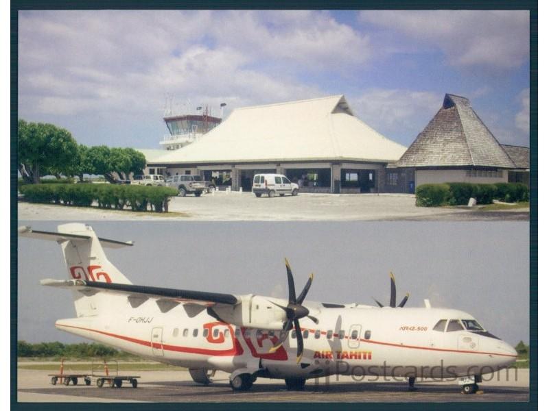 Airport Rangiroa 2 Views Jjpostcards
