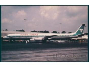 Flying Tigers, DC-8 - jjPostcards