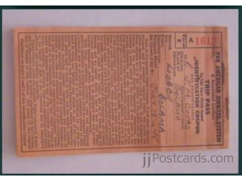 Lissabon, ANA Museum: Pan Am Ticket
