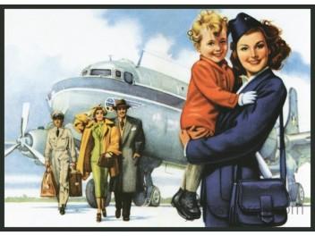 Sabena, DC-4/Stewardess