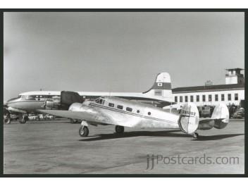 JAL, Beech 18 + DC-4