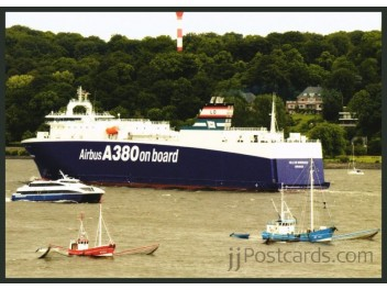 A380 transport by ship, Hamburg