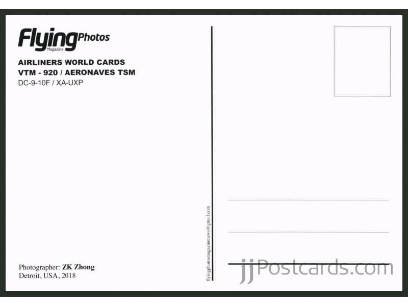 Postcard - Aeronaves TSM, DC-9 - jjpostcards com