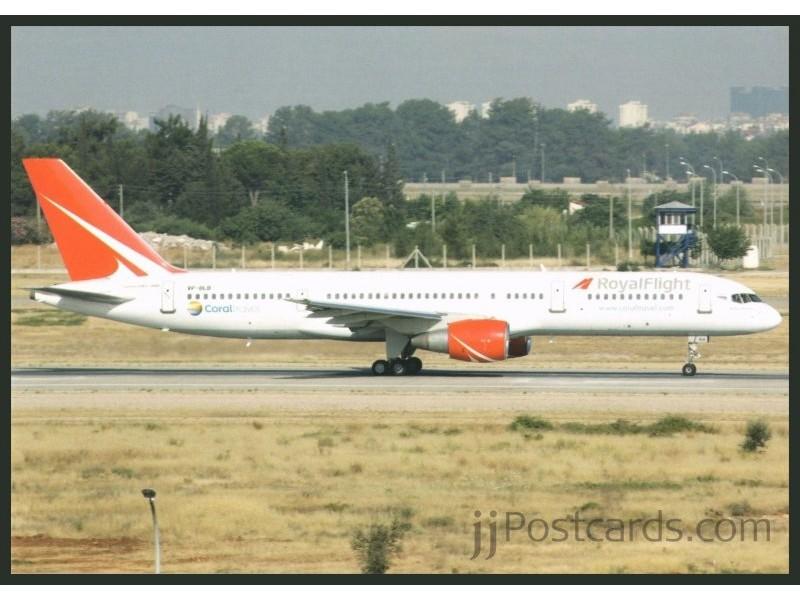 Royal Flight, B 757 - jjPostcards