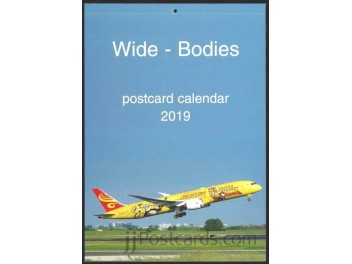 Calendar 'Wide-Bodies' 2019, 13 cards